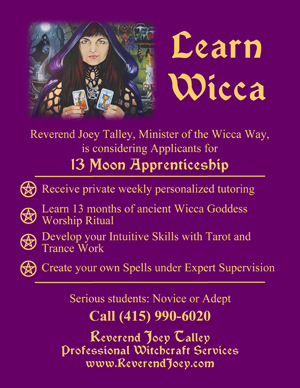 Learn Wicca with Rev. Joey, Minister of the Wicca Way